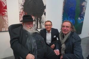 Hermann Nitsch mit Dr. Volker Kroll und Prof. Dr. Ralf Müller