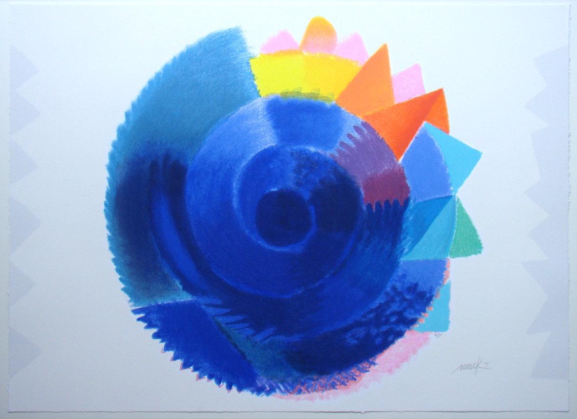 Heinz Mack, Rotation, Serigraphie in 33 Farben auf 300g Büttenpapier, 90 x 110 cm