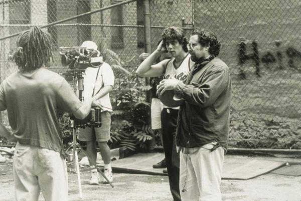 Julian Schnabel am Filmset Basquiat- Copyright Julian Schnabel