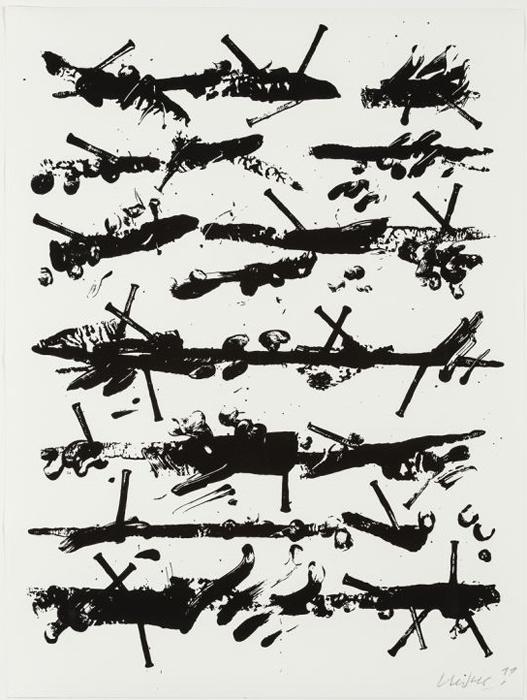 Günther Uecker, Ohne Titel, drittes Blatt aus der 9-teiligen Mappe der Friedensgebote