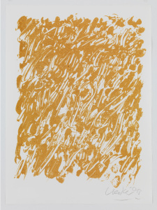 Günther Uecker, Ohne Titel, zweites Blatt aus der 9-teiligen Mappe der Friedensgebote