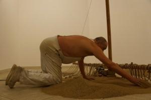 Günther Uecker, Aufbau der Sandmühle