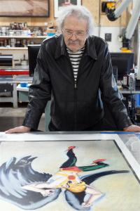 Mel Ramos in der Druckerei