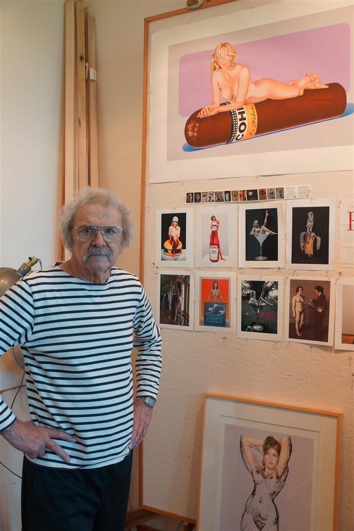 Mel Ramos mit Grafik Hav-a-Havanna