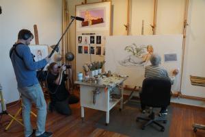 Mel Ramos im Atelier, Dreharbeiten