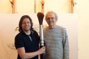 Mel Ramos und Dirk Geuer im Atelier