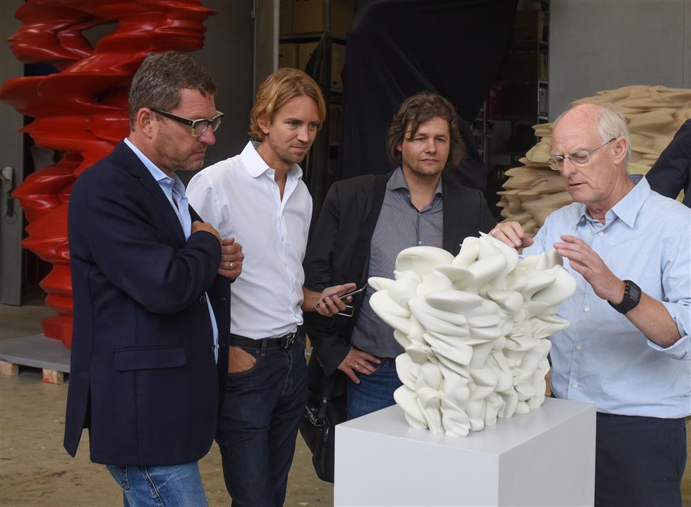 Kai Diekmann, Willem Tell, Dirk Geuer und Tony Cragg