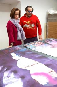 Julian Schnabel mit Frau Prof. Dr. Beate Reifenscheid (Dirketorin des Ludwig Museums Koblenz)