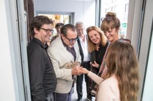 Dirk Geuer, Julian Schnabel und Familie Knoebel