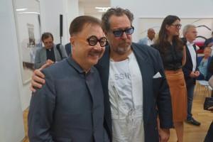 Julian Schnabel mit Künstler Michael Chow