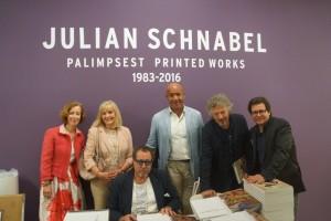 Direktorin PD Beate Reifenscheid, Kulturdezernentin PD Margit Theis-Scholz, Julian Schnabel, Reiner Opoku, Wolfgang Niedecken, Dirk Geuer