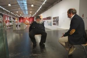 Hermann Nitsch und Wolfram Kons im Hermann Nitsch Museum