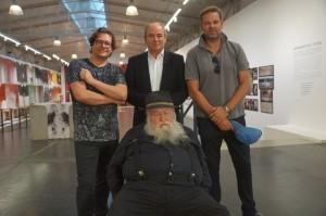 v.l.n.r. Dirk Geuer, Wolfram Kons, Kai Böcking und Hermann Nitsch