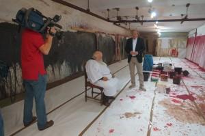 Interview im Atelier des Künstlers