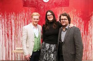 Yvonne und Dirk Geuer mit Leon Löwentraut