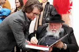 Dirk Geuer mit Hermann Nitsch
