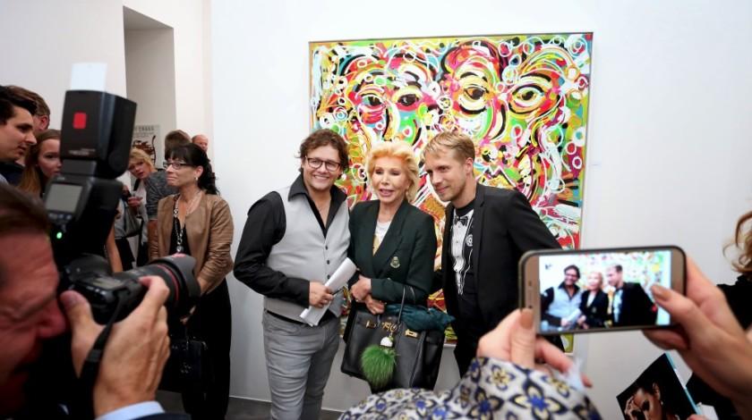 5 Dirk Geuer mit Ute-Henriette Ohoven und Oliver Pocher
